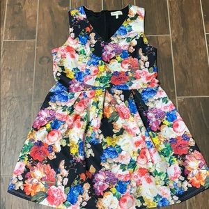 Flora fit and flare scuba dress